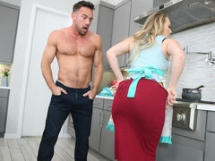 A.J. Applegate Whips Up a Creampie From a Married Man!