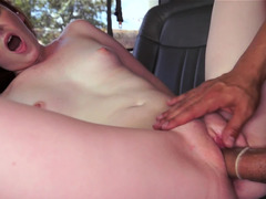 Sweet ginger plays the role of a prostitute fucking in the car