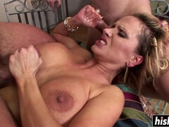 Fucking with two guys at once makes Sharon Pink reach an orgasm - sharon pink