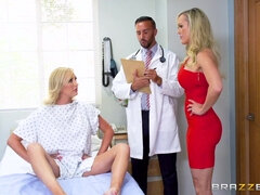 Doctor cures juicy bisexual chicks with a crazy threesome
