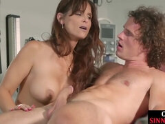 APPETIZING SINNER - Bigtitted step-mother inhaling shaft in her office
