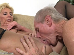 Older Couple Humping - GILF and her hubby in homemade porn video with cumshot