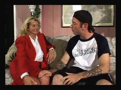 Busty GILF and sport dude with huge cock