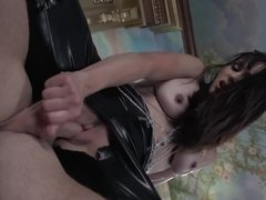 Brunette thief gets caught stealing and gets banged