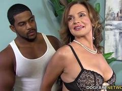 Breasty Cougar Rebecca Bardoux Loves BBC Anal