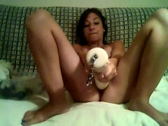 Diminutive First-Timer Opens Up her Humungous Liberate Coochie with Massive Fucktoy