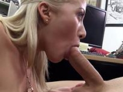 Boobalicious pawnshop inexperienced giving bj owners dick