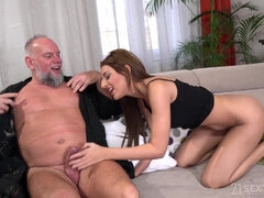 Sarah and Dirty Old Landlord - hard sex