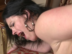 Horny mom fucking and sucking