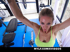 MYLF - supple mummy Gets screwed Hardcore In The Gym