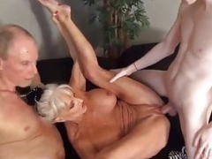 Getting down and dirty my milf Sally in front of Dad