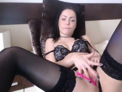 Sexy brunette 18-19 year old amateur jack off on webcam