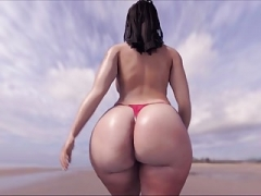 Huge Ass on D'Beach!