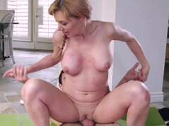 Sasha Sean gets nailed & cum covered by her daughter's boyfriend
