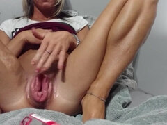 Fantastic Small COUGAR Pumping her Good-Sized Vulva
