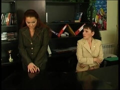 Milf Lilian got caught by young lesbian while masturbating puss