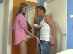 Skinny tall teen girl Sindy is desperate for prick