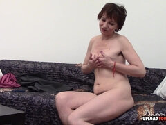 mommy takes her clothes off and masturbates