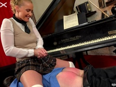 Hot Student Spanks Her Teacher