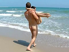 Immature tourist get pounded on the beach
