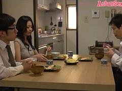 Aroused Japanese girl Nana Aida in Hottest love bubbles, couple JAV movie