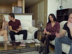 Petite hottie fucks her stepbro behind their parents back