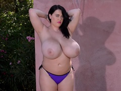 Make 'em Shine! - Squeezing Big Tits Under Waterfall
