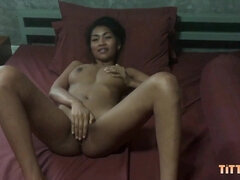 Thai 18yo schoolgirl with big knockers rides my one-eyed snake
