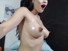 Sizeable nipples wife milk fountain