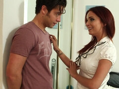 Red haired slut seduced a handsome guy