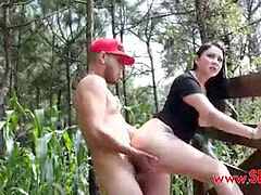 smashing Stepmom in the forest