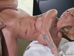 Tattooed mature ho with large tits craves young cock - Joslyn James & Bill