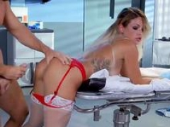 Kinky large tits blondie nurse pounded in hospital ward