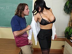 Milk sacks Teacher Fucks Her Big-Dick Student at the Office