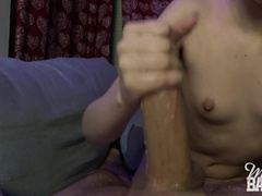 Ruined orgasm handjob - Miss Banana