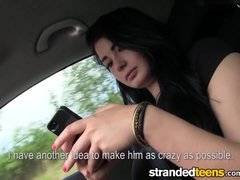 Stranded Teen chicks - Anna gets a tiny help from a stranger