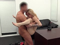 Tiny babe mishandled and fucked on office table