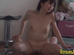 japanese young girl riding cock