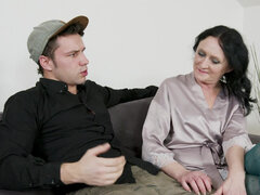 Horny stepmom wants her stepson's dick