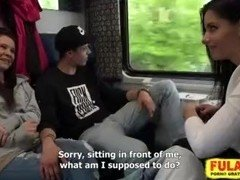 Czech couples get down and dirty in train