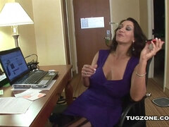 Persia Monir plays with her big boobs and black dick