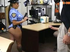 Breasty latin police woman screwed hard by pawn keeper