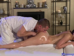 Sexy brunette's squirting orgasms
