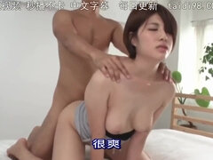 Lad puts a gentle Asian babe into doggy position